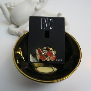 NWT INC Rhinestone Ring - sz 8